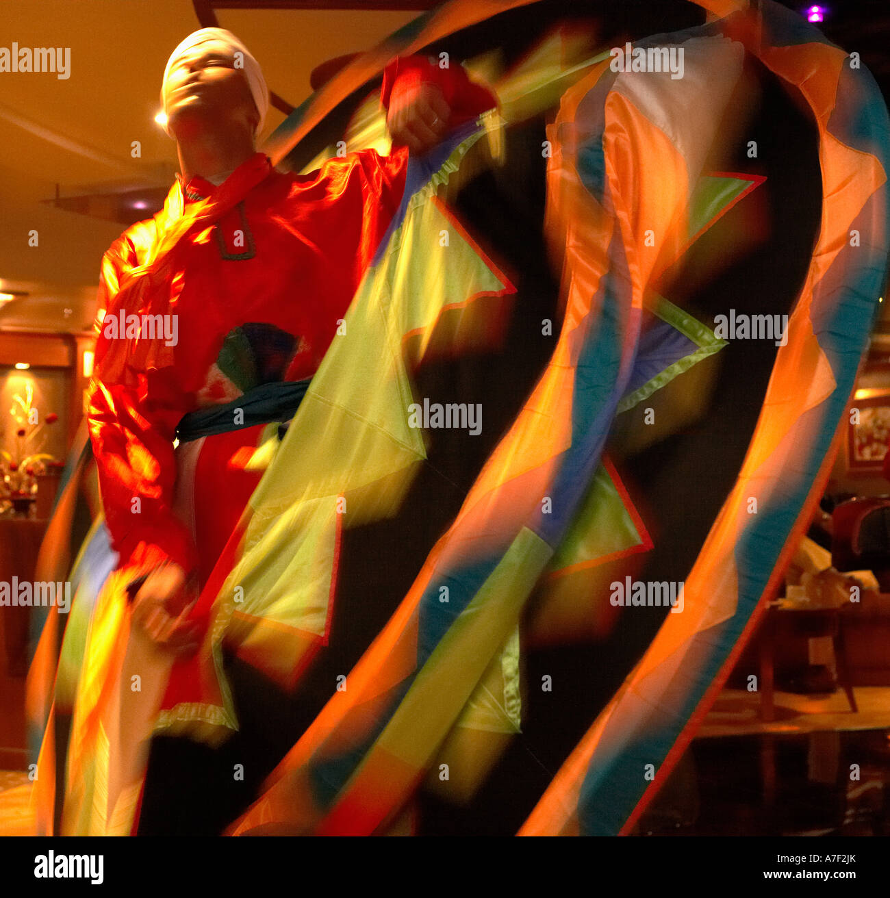 Whirling Dervish dancer Luxor Egypt - Stock Image