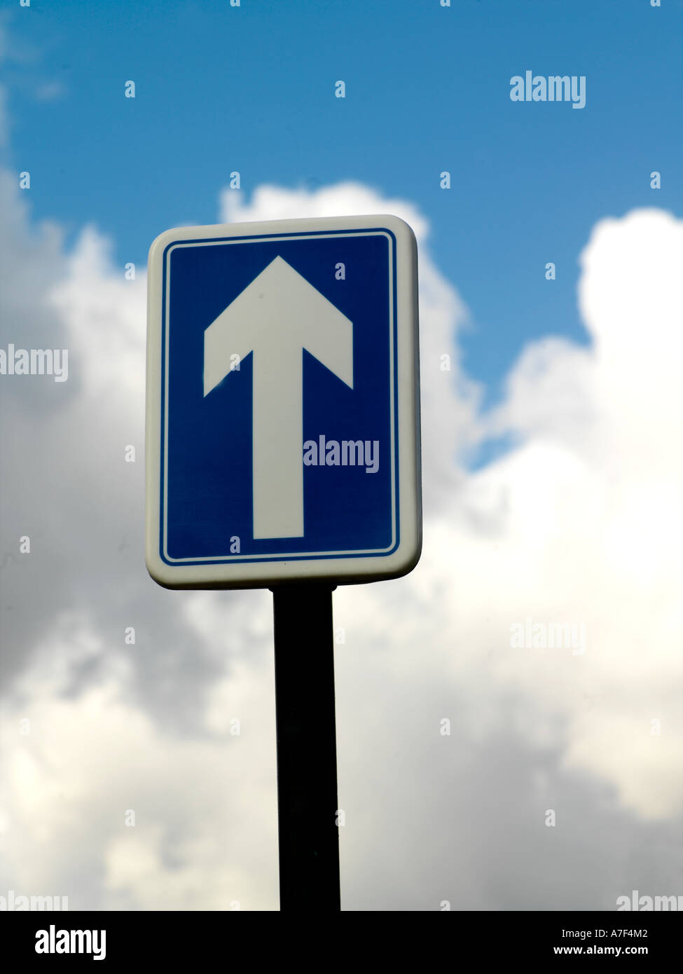 Straight Ahead Road Sign - Stock Image
