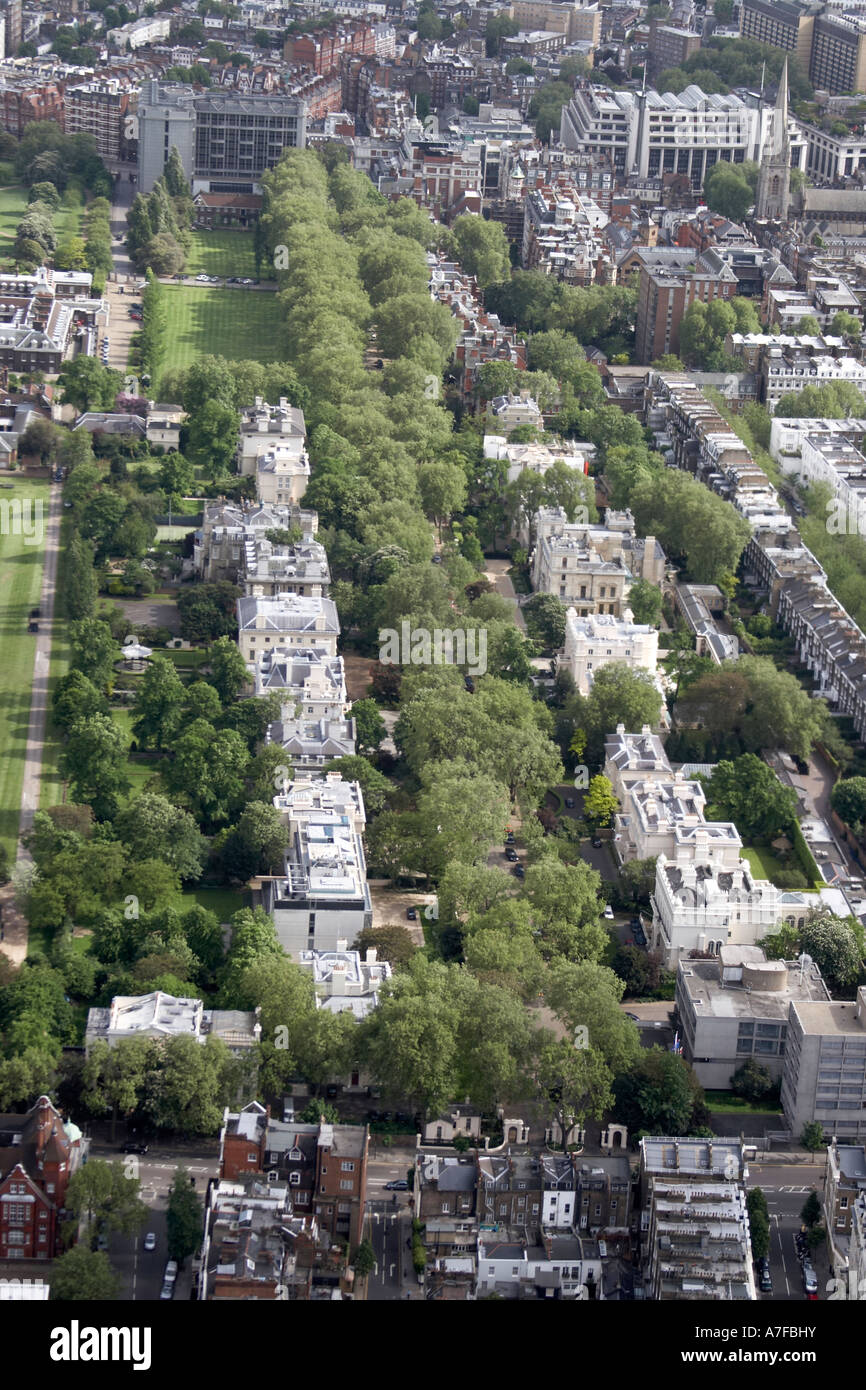 high level oblique aerial view south east of kensington palace gardens A7FBHY