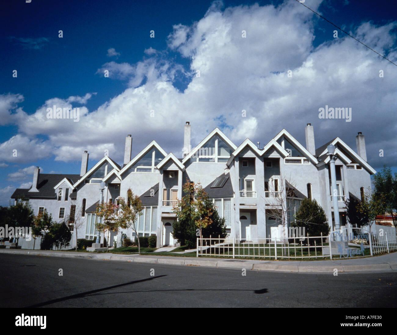 Condominium apartment complex - Stock Image