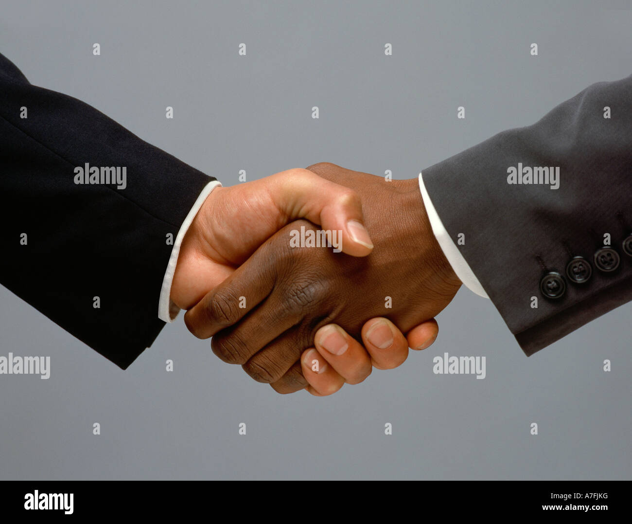 hands, Male hands shaking, friendship, bonding, cutout, cut out - Stock Image