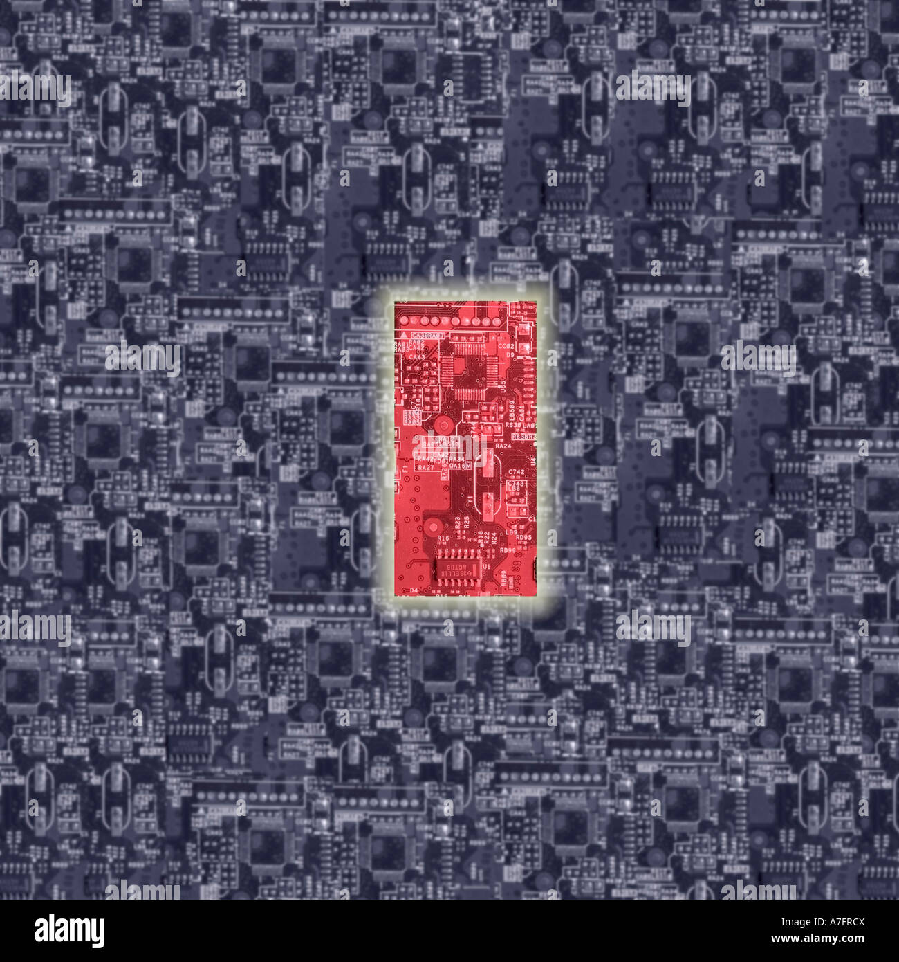 Electronic Circuit Board Processor Top Stock Photos Gstudio Group Boards Design Motherboard Dreamstime Pcb One Red Superimposed On A Of Below Image