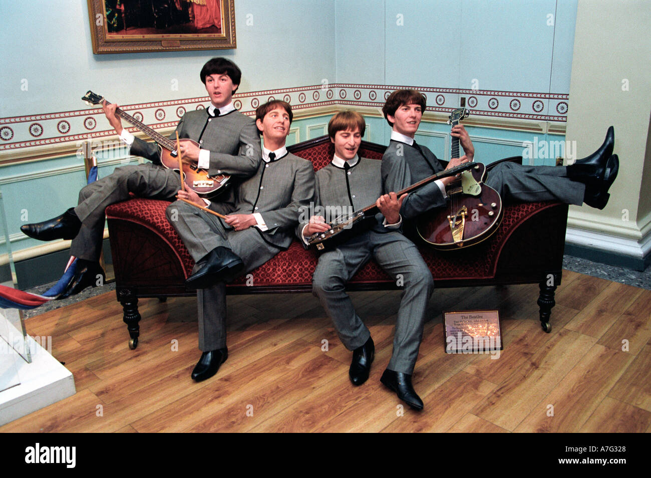 Beatles at Madame Tussauds London - Stock Image