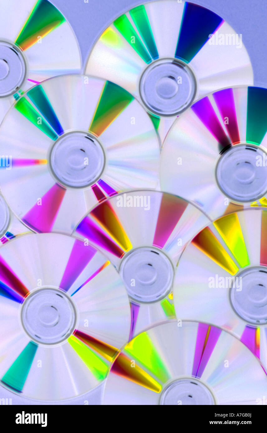 Blank recordable CDs Stock Photo