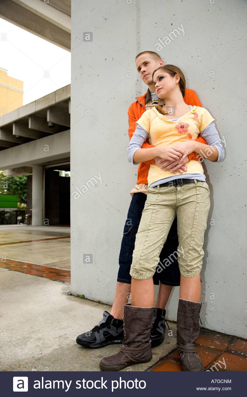 A teenage couple - Stock Image