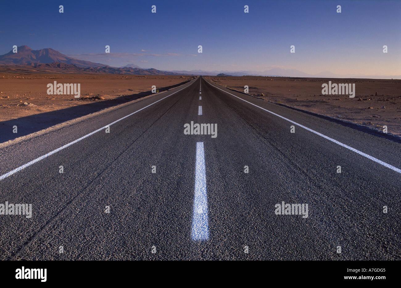 Road to Socaire Atacama Desert Chile - Stock Image
