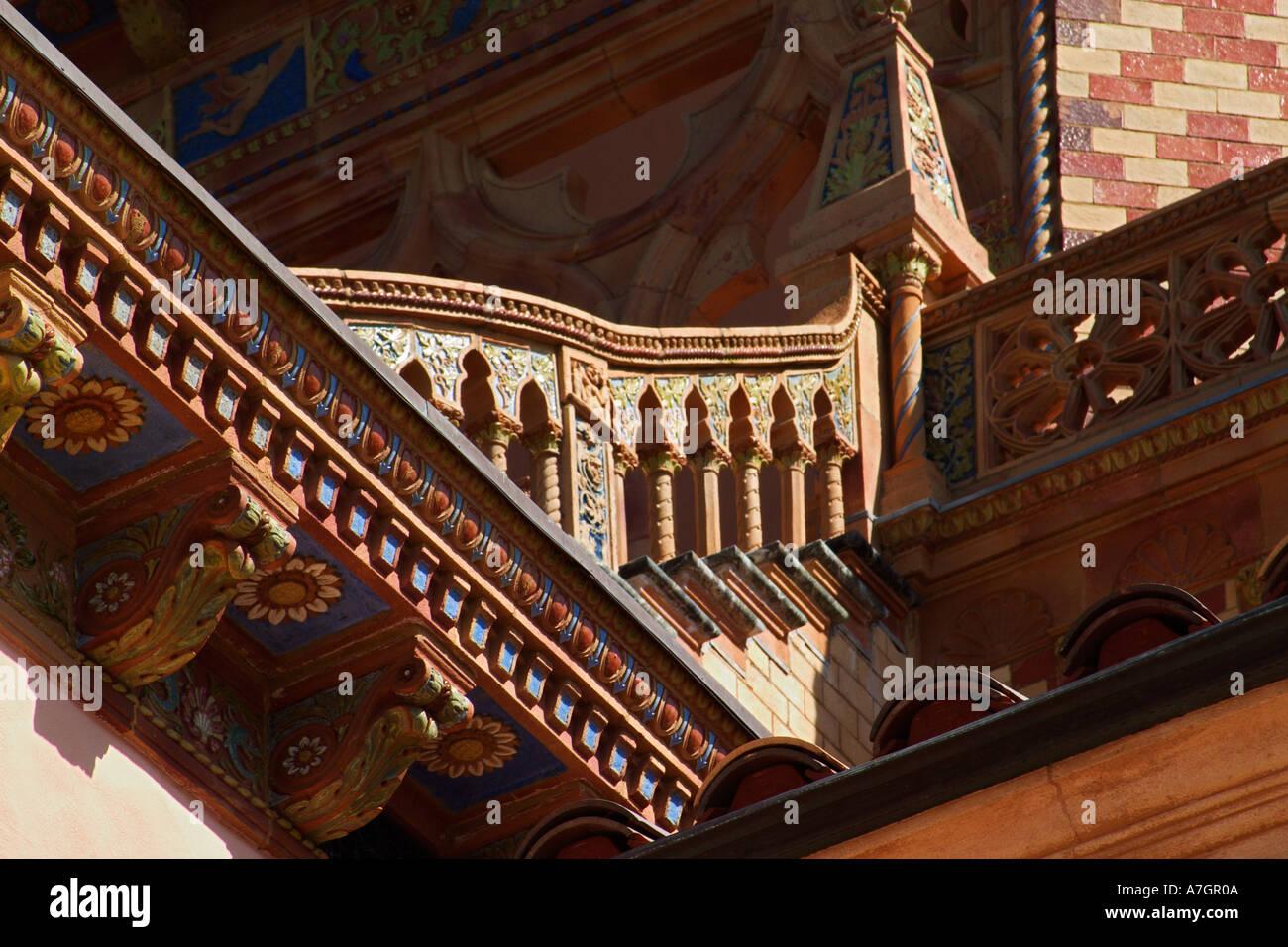 Architectural details of Ca d Zan Mansion, home, John & Mable Ringling, Sarasota, Florida Stock Photo