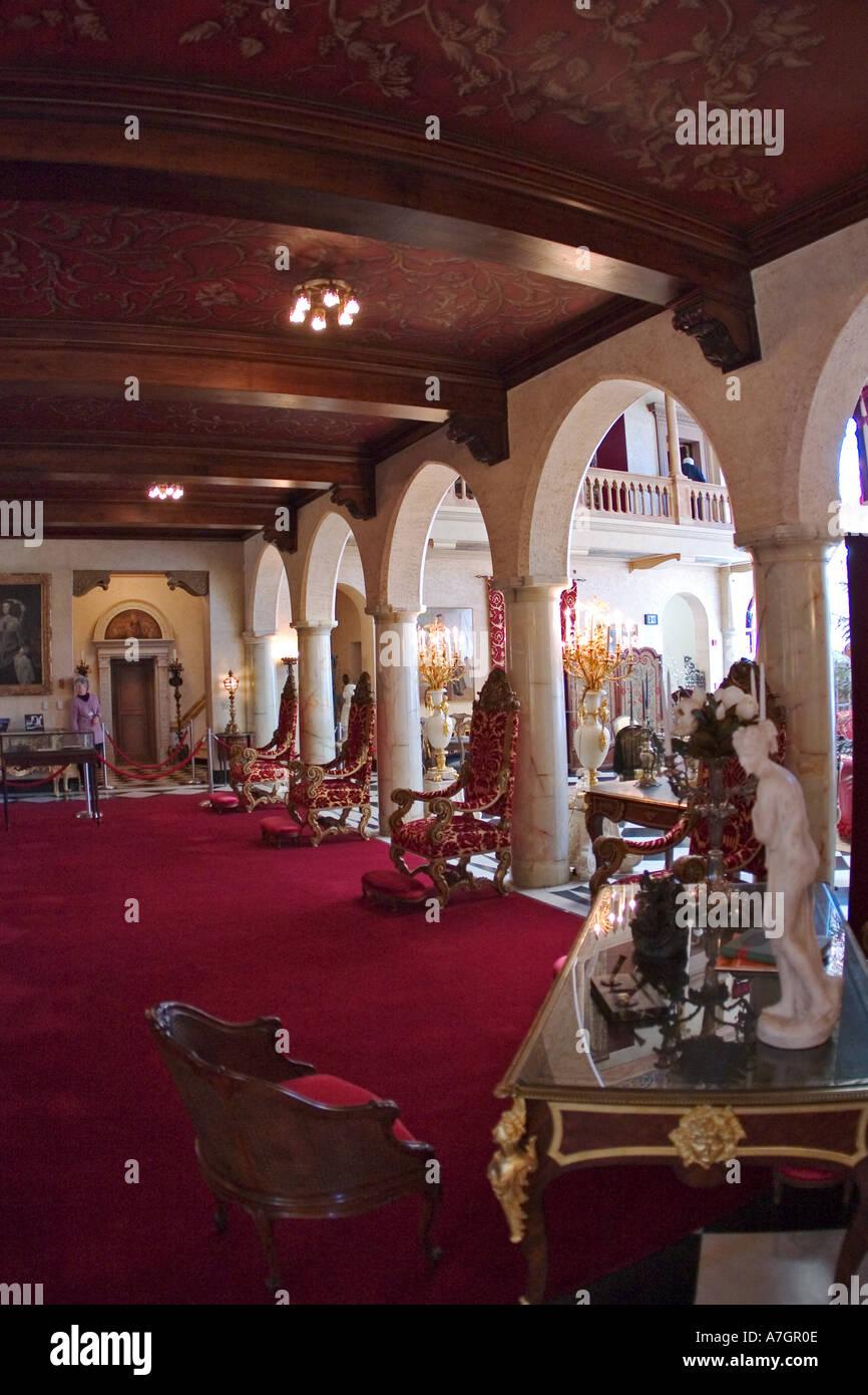 Interior of Ca d Zan Mansion home of John & Marble, Ringling, Sarasota, Florida Stock Photo