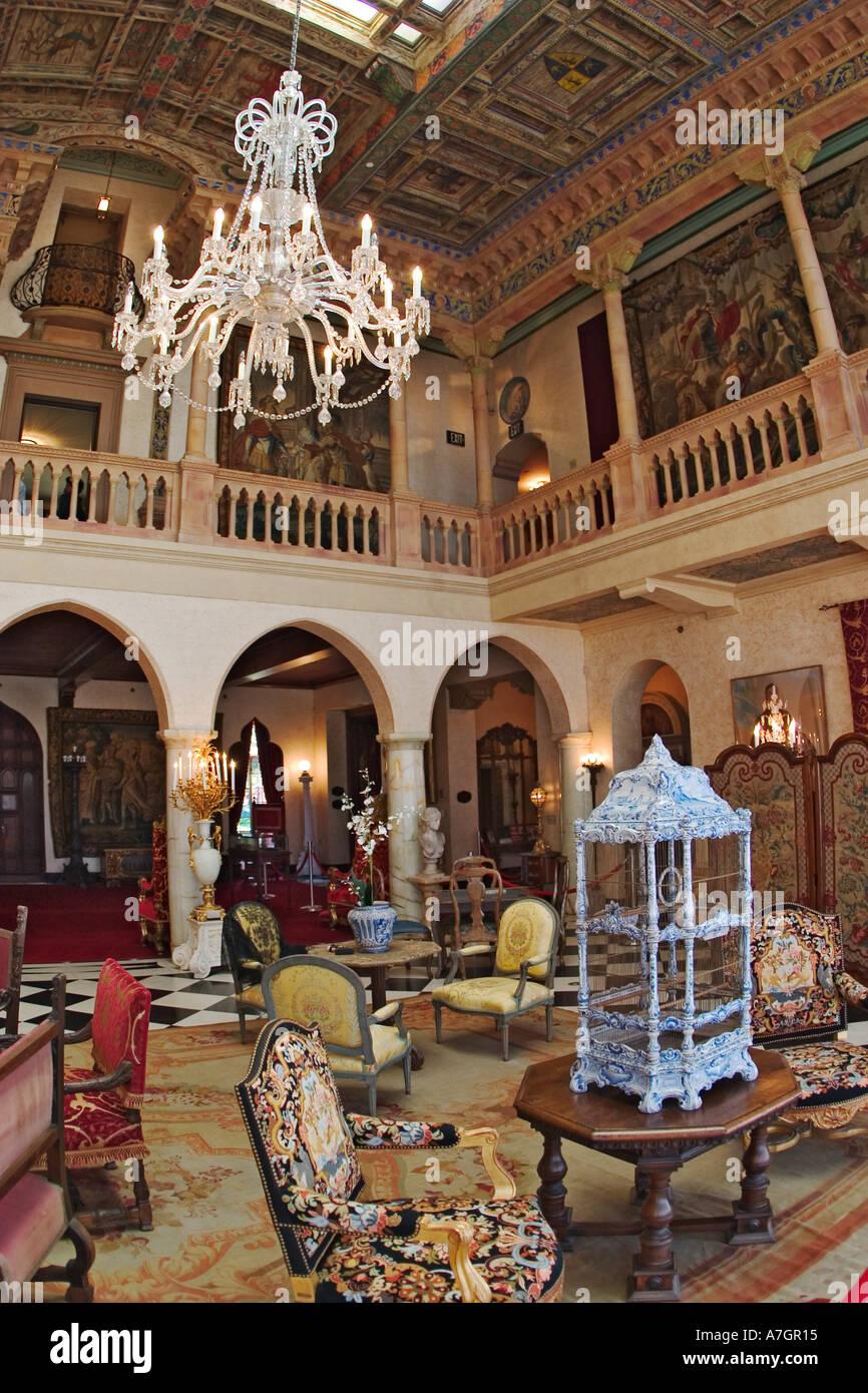 Interior of Ca d Zan Mansion home of John & Marble Ringling, Sarasota, Florida Stock Photo