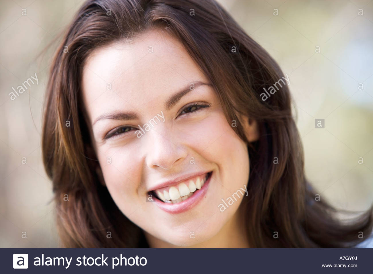 Portrait of a woman, close-up - Stock Image