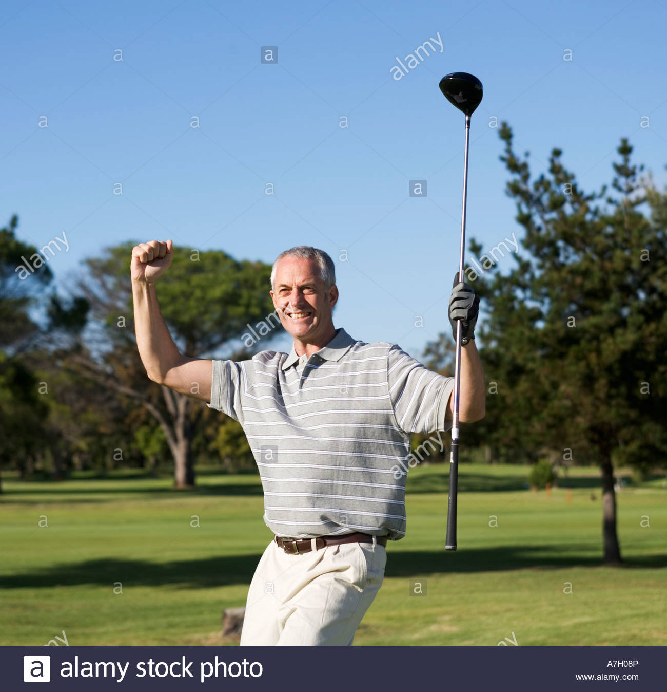Success on the golf course - Stock Image