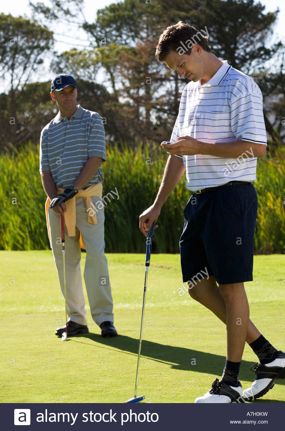 Interruption to the game of golf - Stock Image