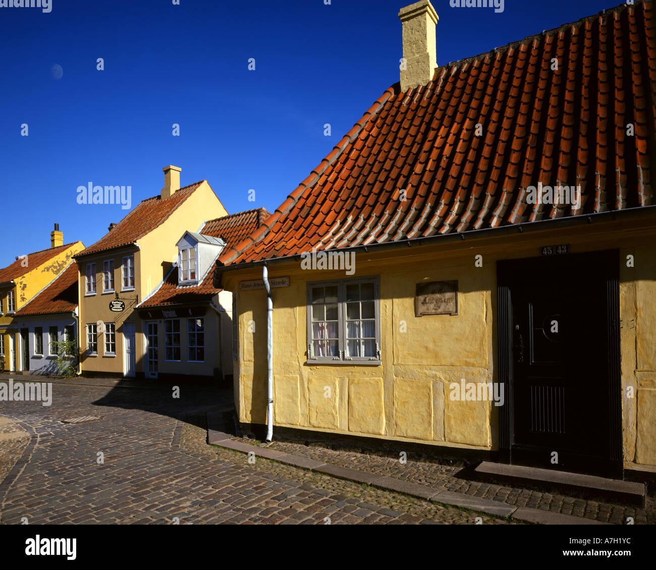 DK - FUNEN:  Hans Christian Andersen House in Odense - Stock Image