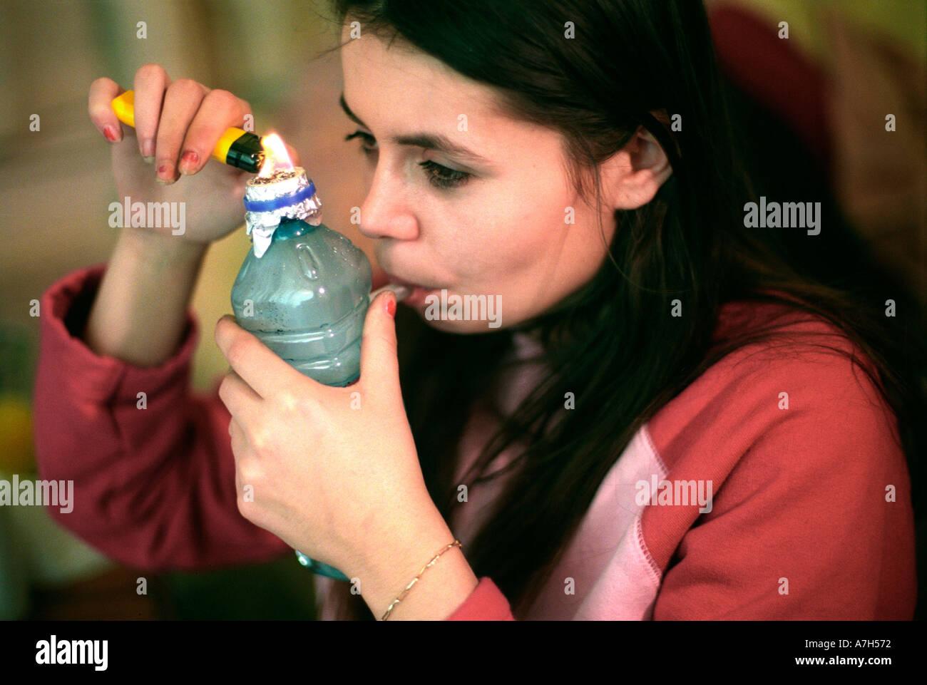A image of necket black girls cooking crack