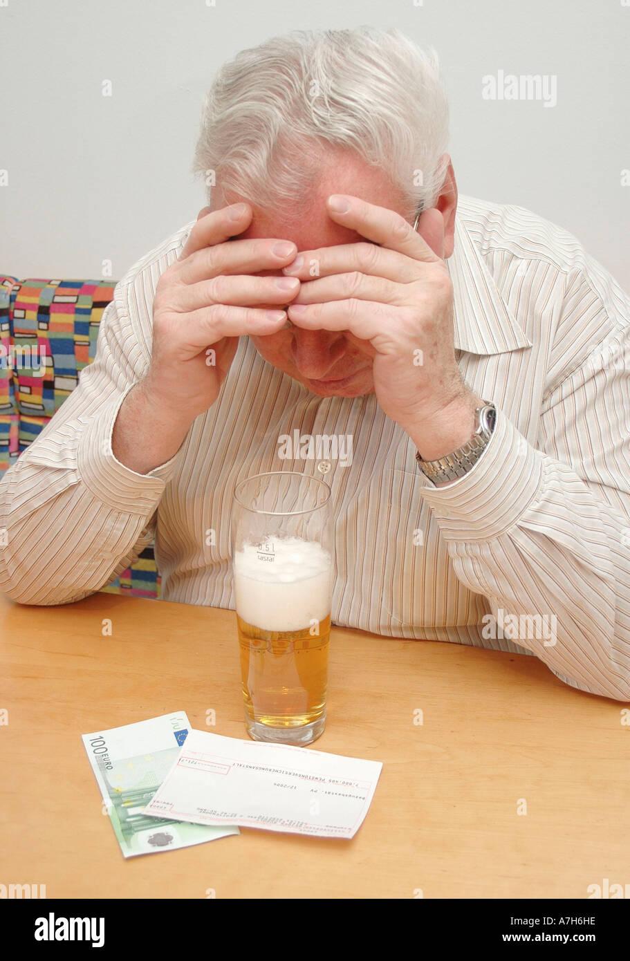 drinks beer Stock Photo