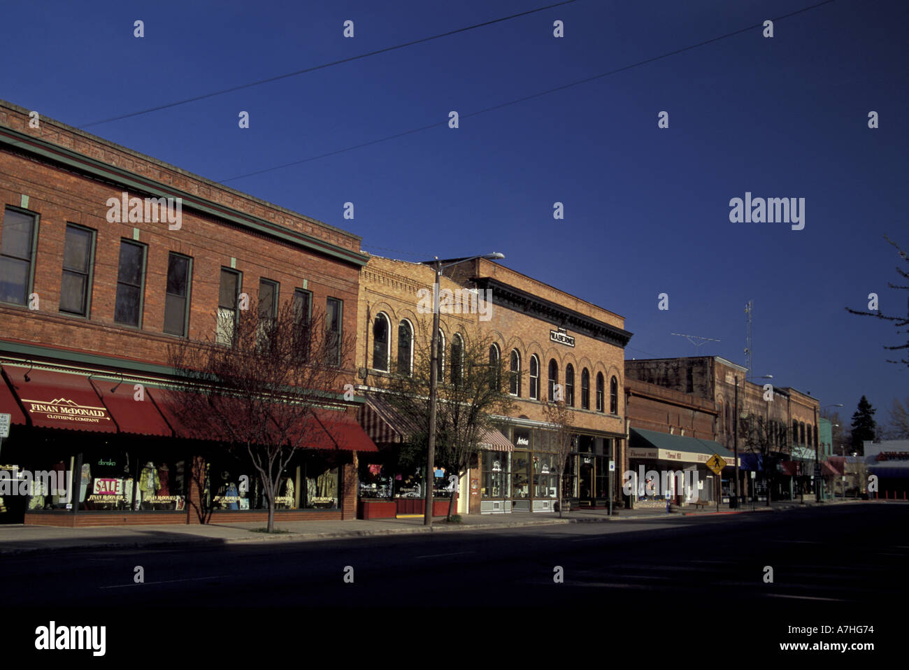North America, USA, Idaho, Bonner County, downtown Sandpoint - Stock Image