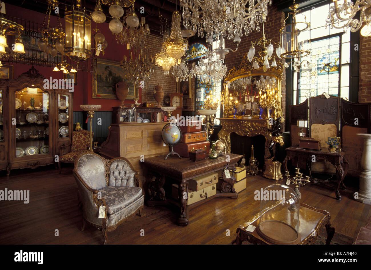 NA, USA, Kentucky, Lexington. Interior Of Old Antique Shop