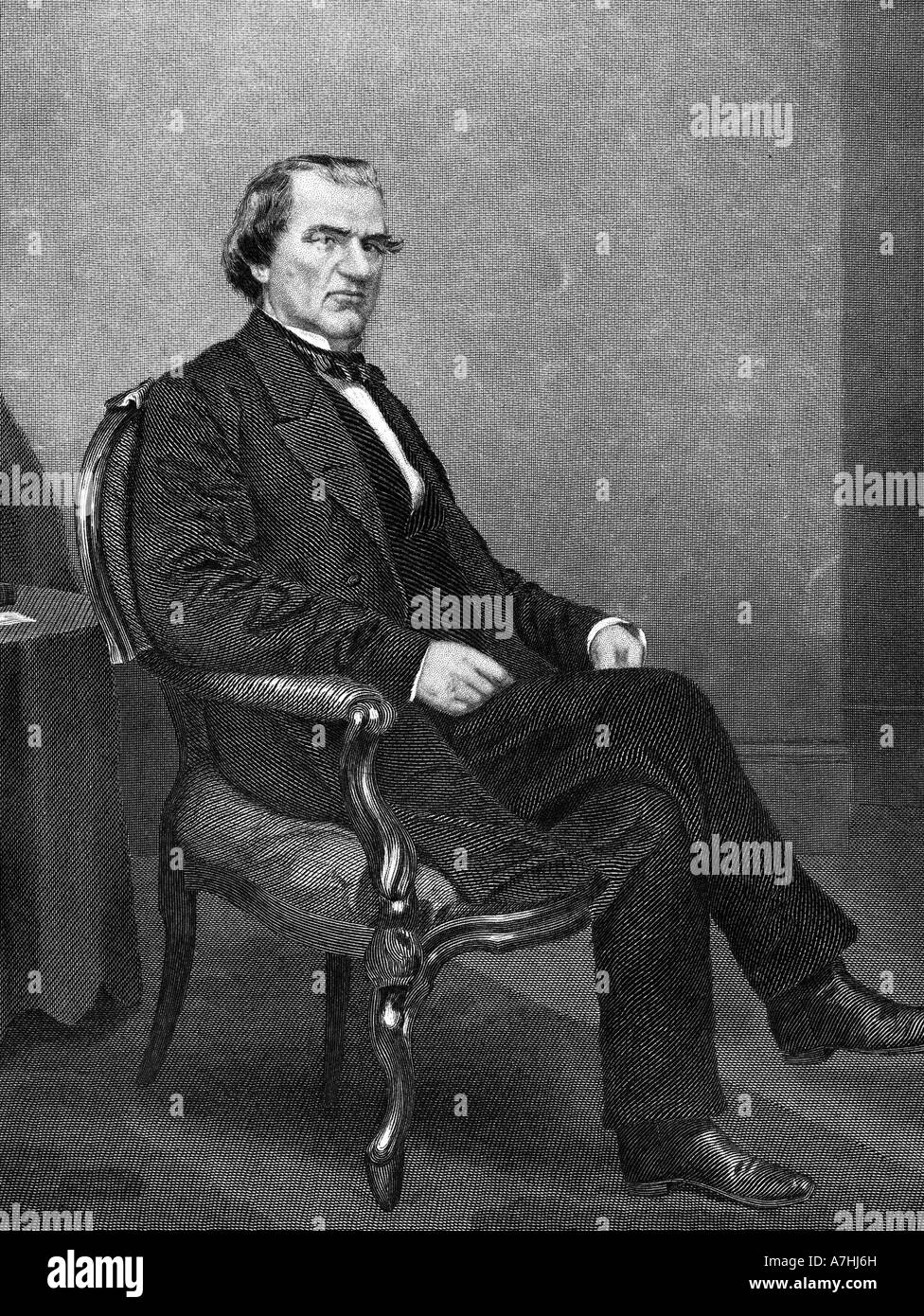 ANDREW JOHNSON - 17th President of the USA (1808 to 1887) - Stock Image