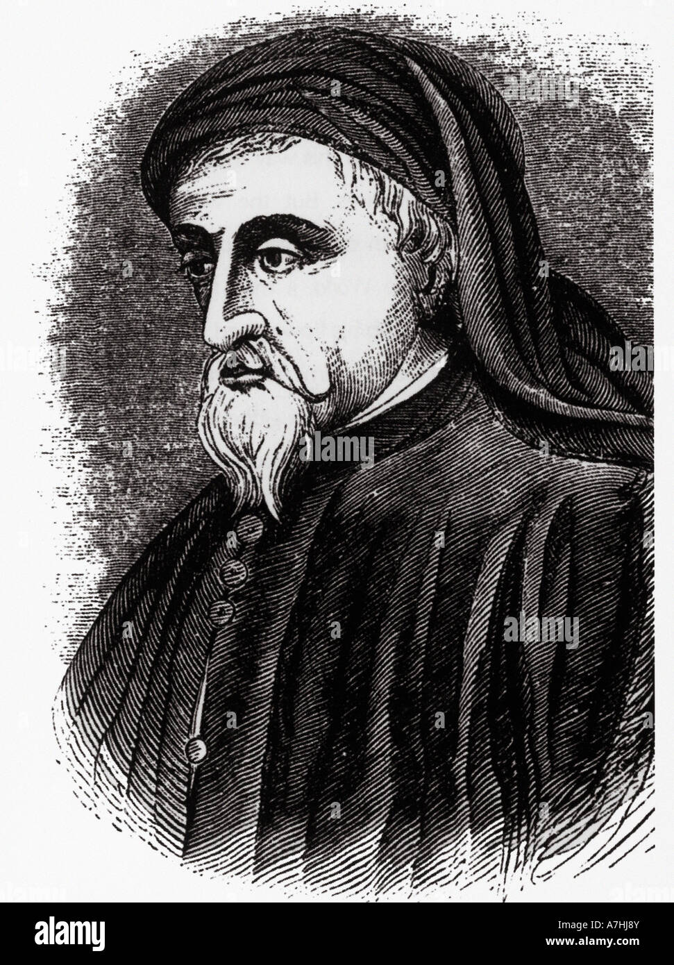 GEOFFREY CHAUCER  English poet bst know for his Canterbury Tales - Stock Image