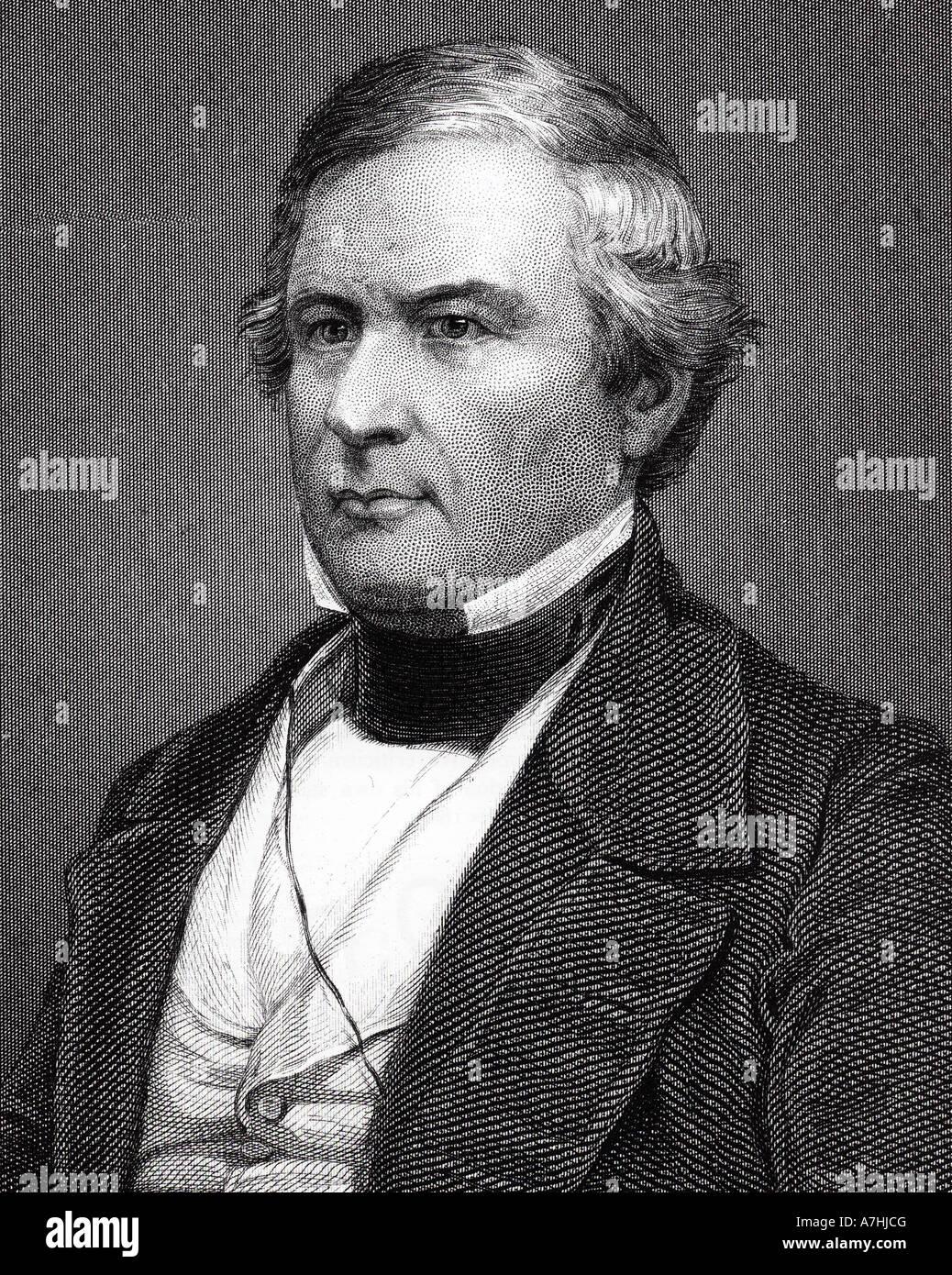 MILLARD FILLMORE  - 13th President of the USA (1800-1874) - Stock Image