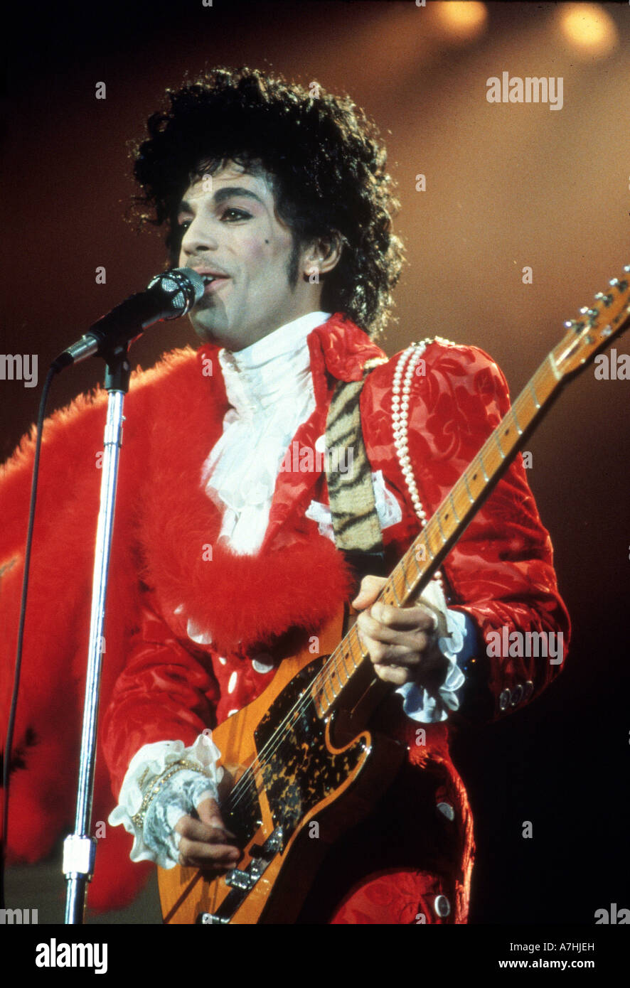 PRINCE  US musician in 1985 - Stock Image