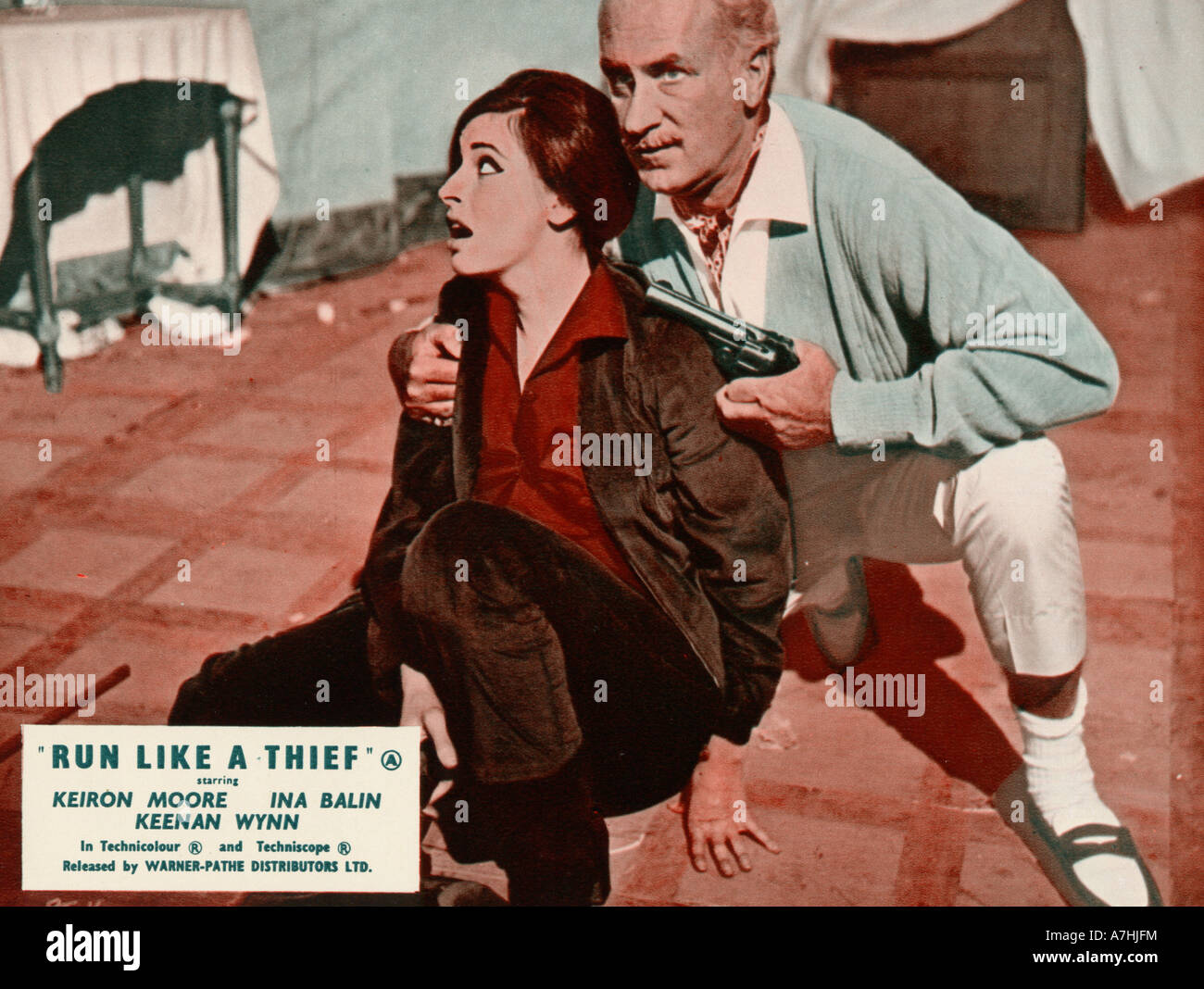 RUN LIKE A THIEF  1968 Coral Productions film with Keenan Wynn and Ina Balin - Stock Image