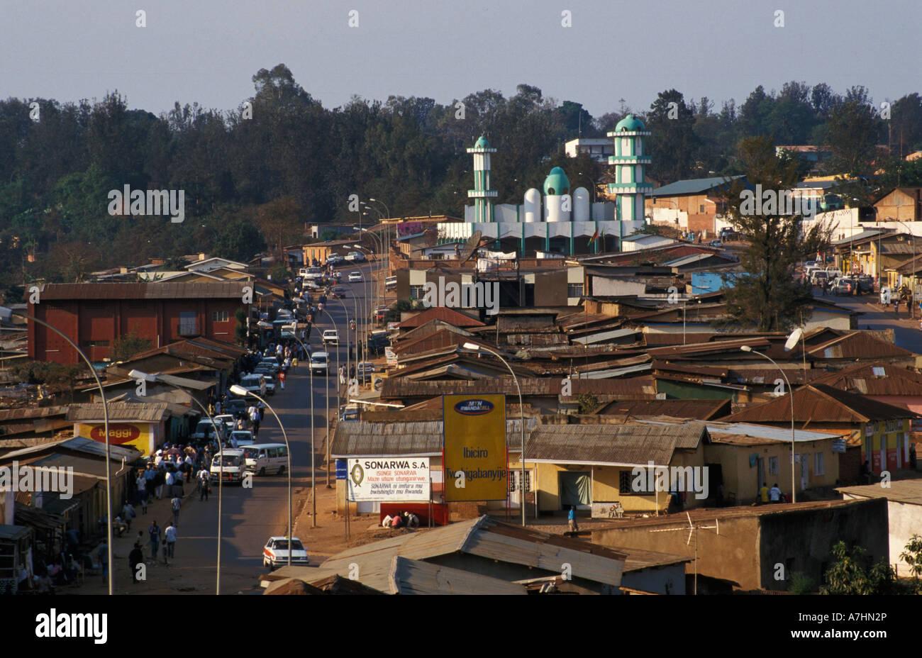 Muslim quarter in the Nyamirambo district, Kigali, Rwanda - Stock Image