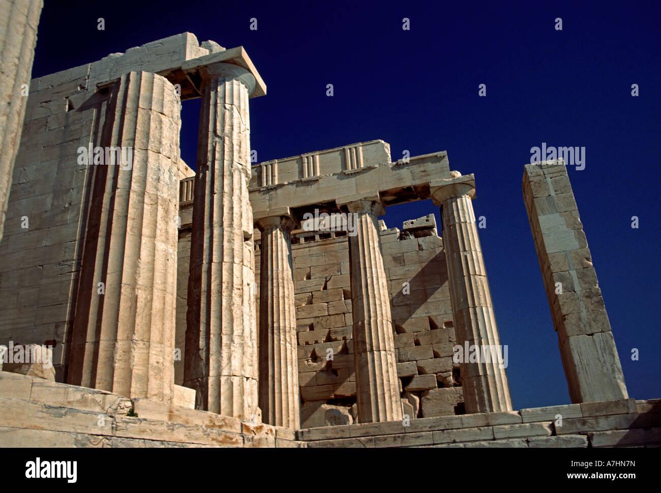 Propylaea, Acropolis, Athens, Attica, Greece, Stock Photo
