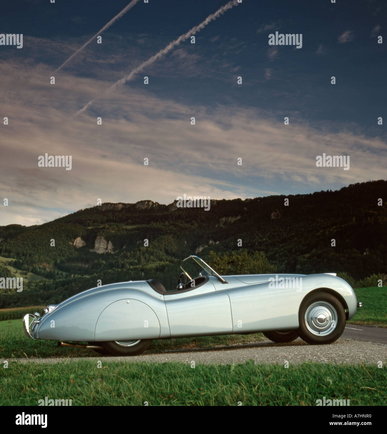 Jaguar Xk 120 Stock Photos Images Alamy 1953 Roadster For Sale Ots 1949 Ally Body In Switzerland Image
