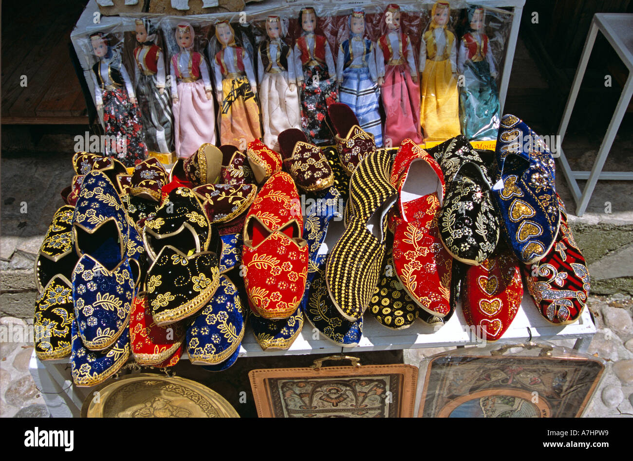 Turkish Slippers Stall Stock Photos Amp Turkish Slippers