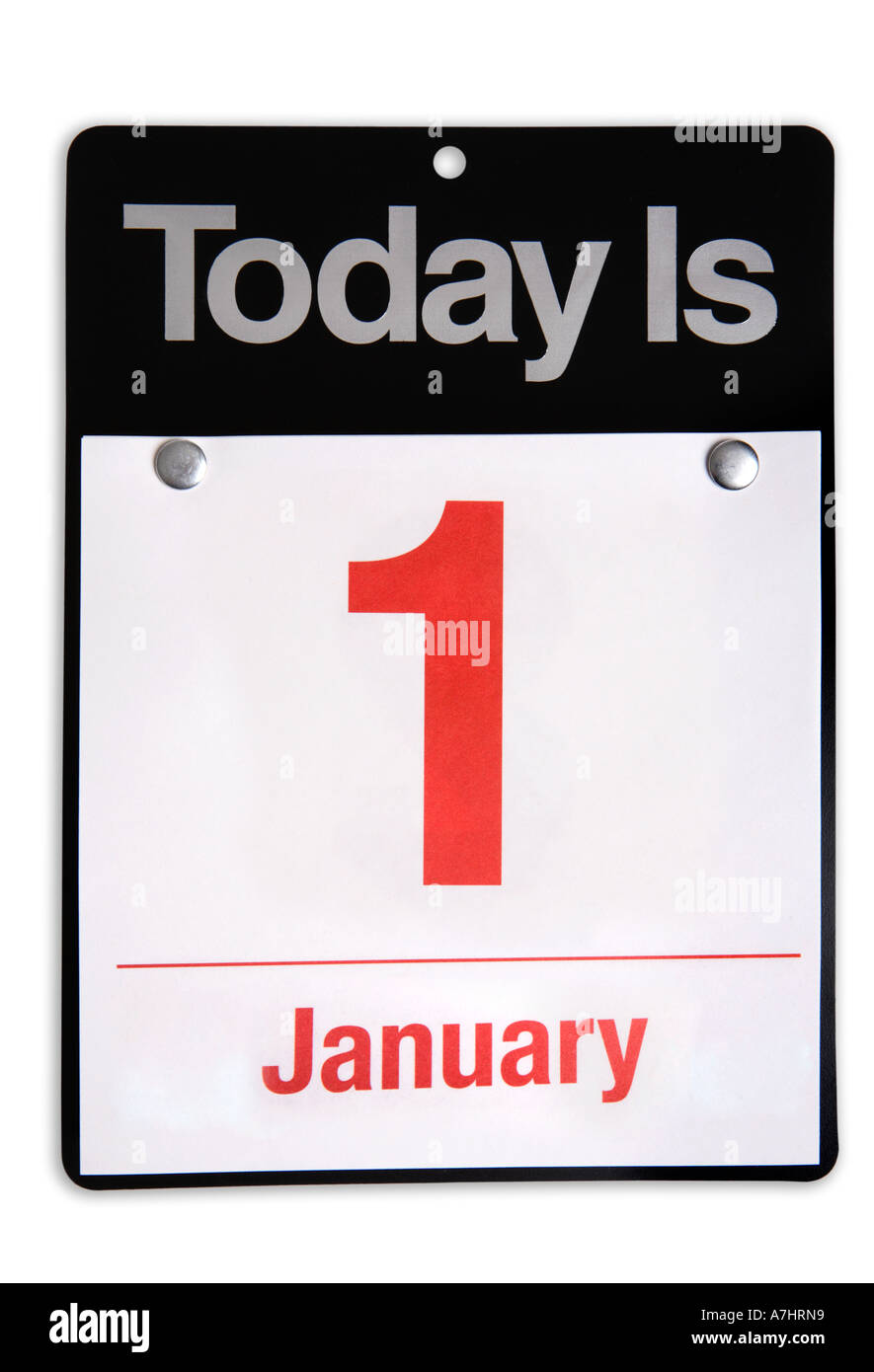 January 1st New Years Day - Stock Image