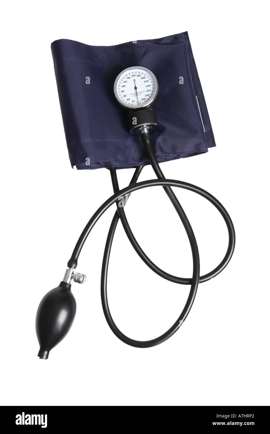 Sphygmomanometer blood pressure gauge - Stock Image