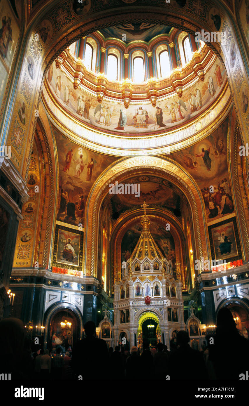 Cathedral Of Christ The Saviour Interior Moscow Russia