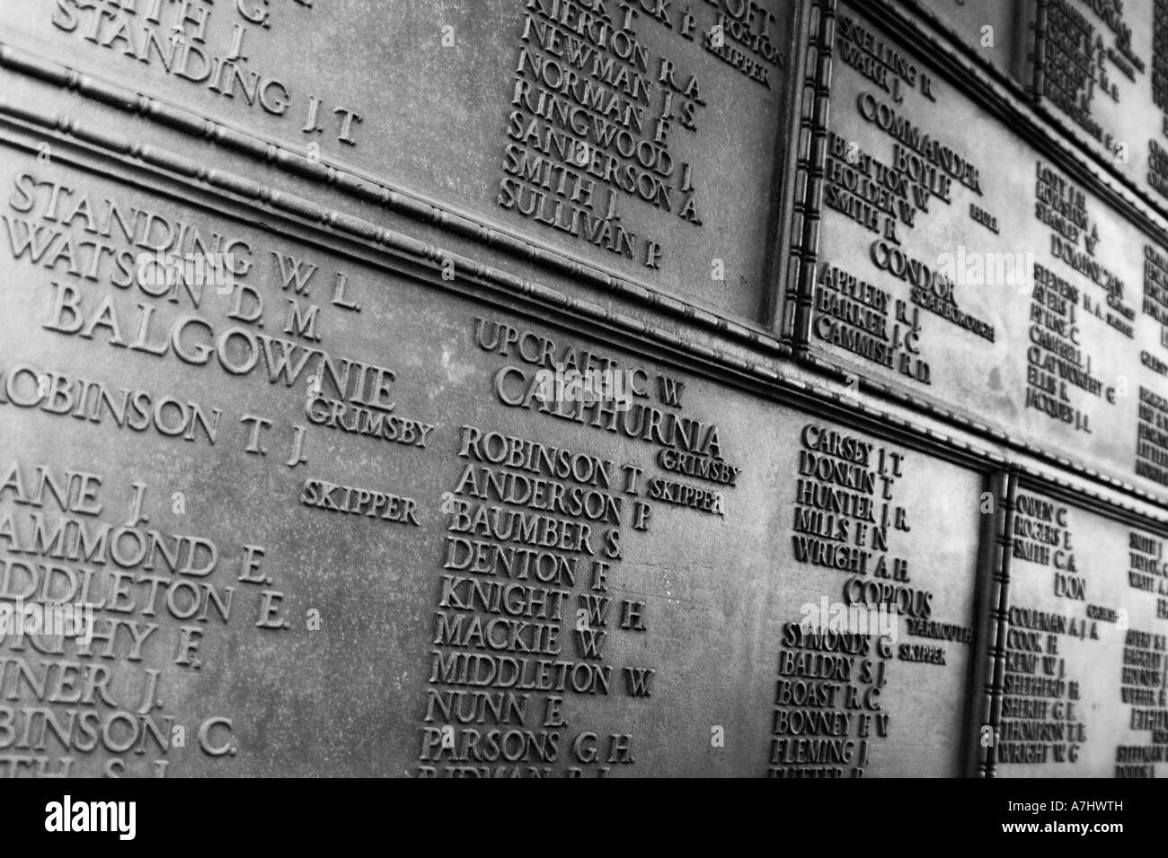 section of the trinity square war memorial London UK - Stock Image