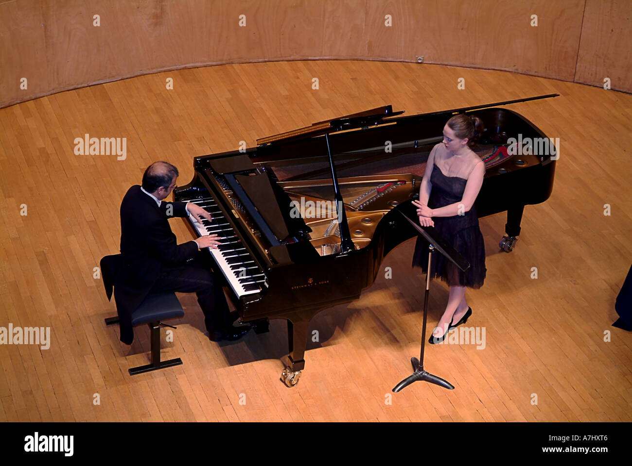 Piano Concert By Paolo Vergari In Salle Cortot Paris France Stock
