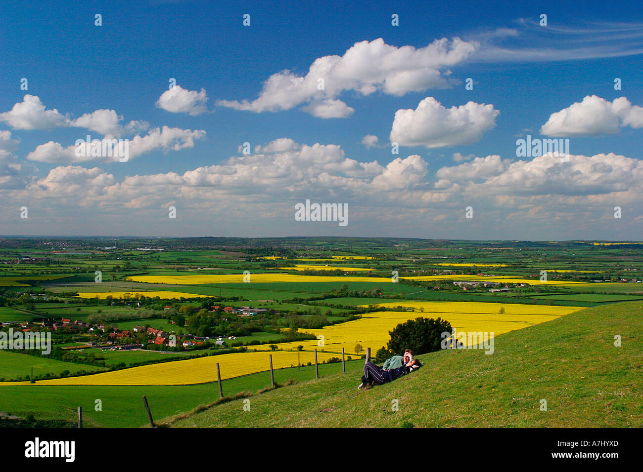 View from Ivinghoe Beacon - Stock Image
