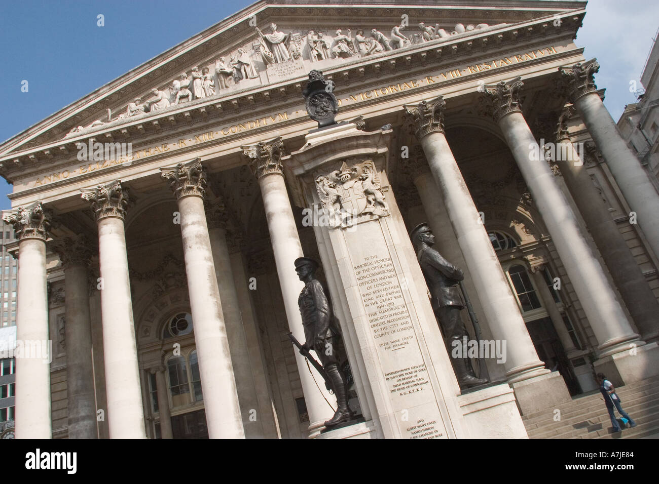 'Royal Exchange' near the Mansion House City of London GB UK - Stock Image