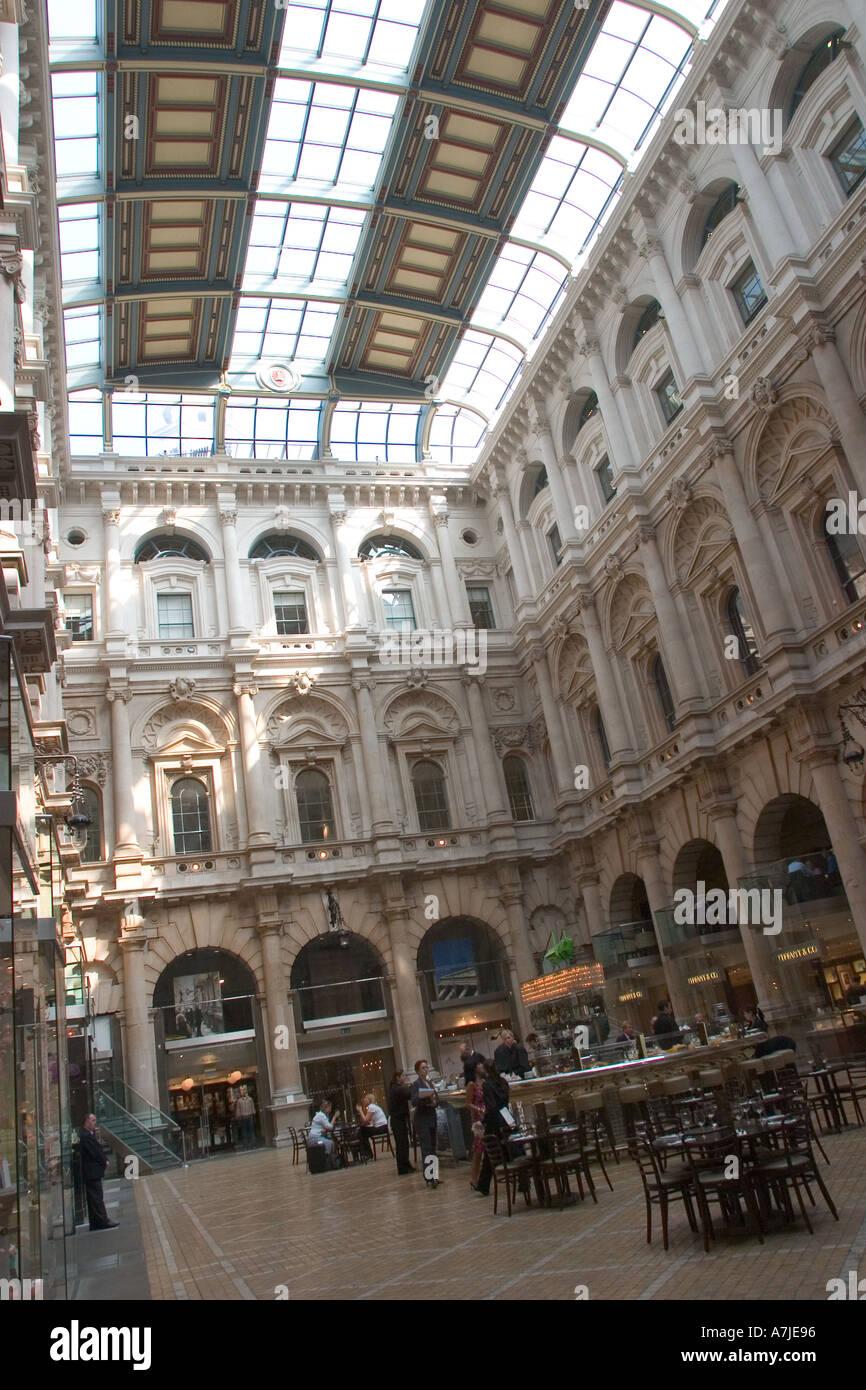 Interior of Royal Exchange London GB UK - Stock Image