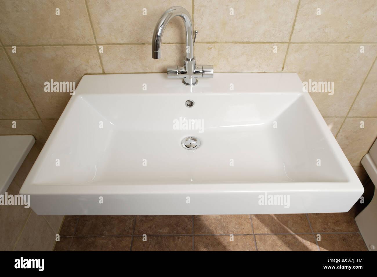 Modern Wash Basin In Bathroom