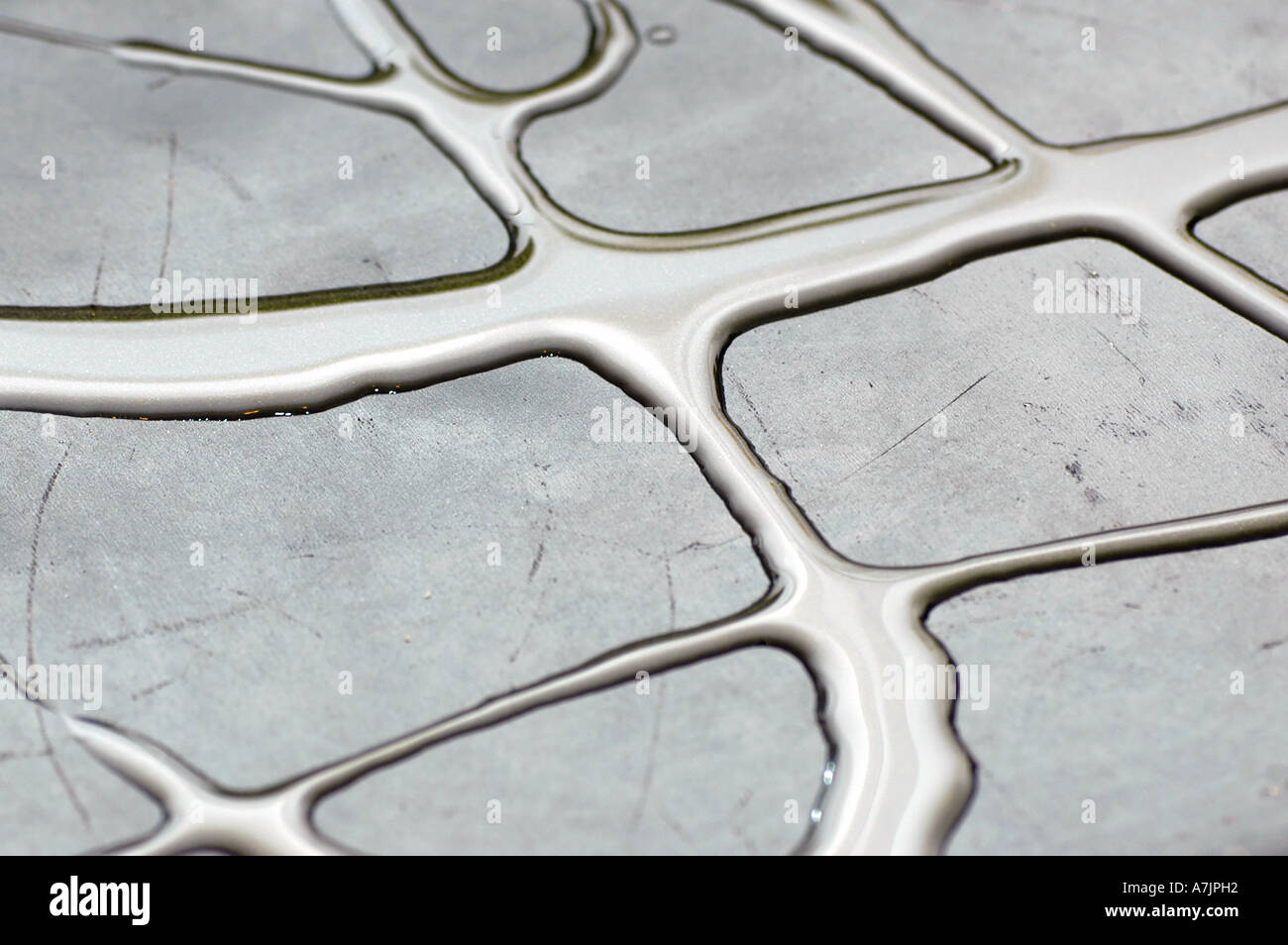 Oil on pan - Stock Image