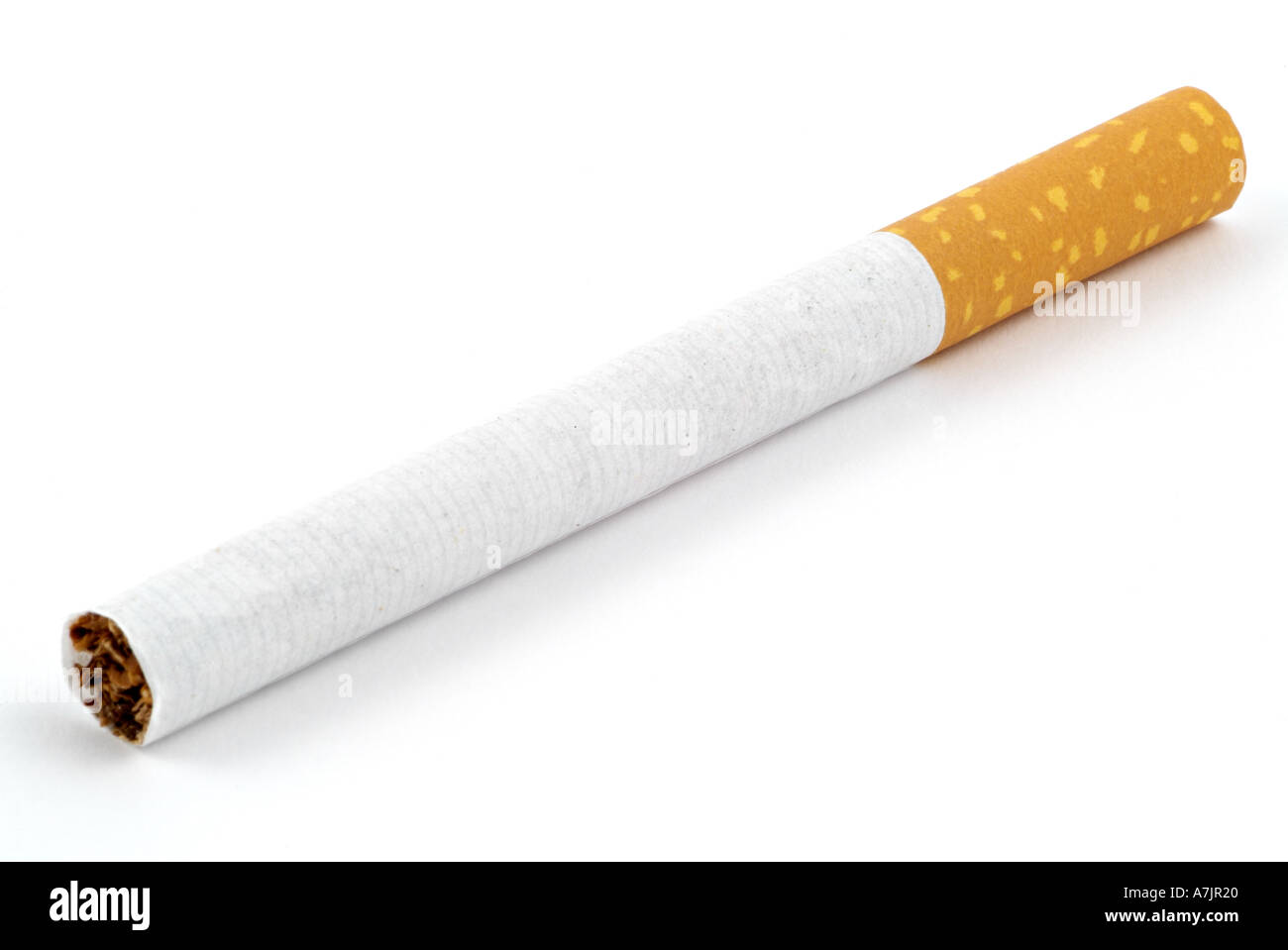 Cigarette Against a White Background - Stock Image