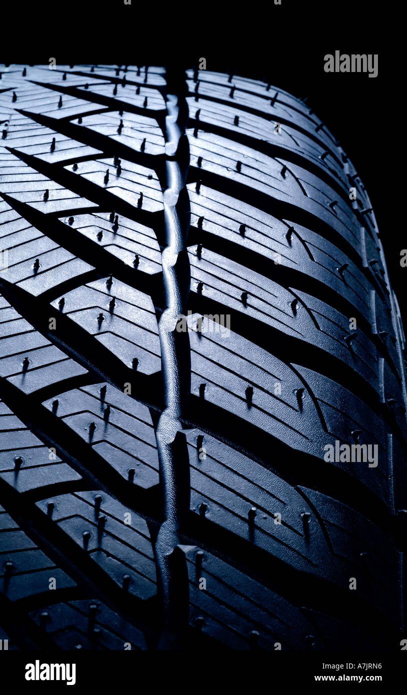 tire tread pattern Reifen Reifenprofil Stock Photo