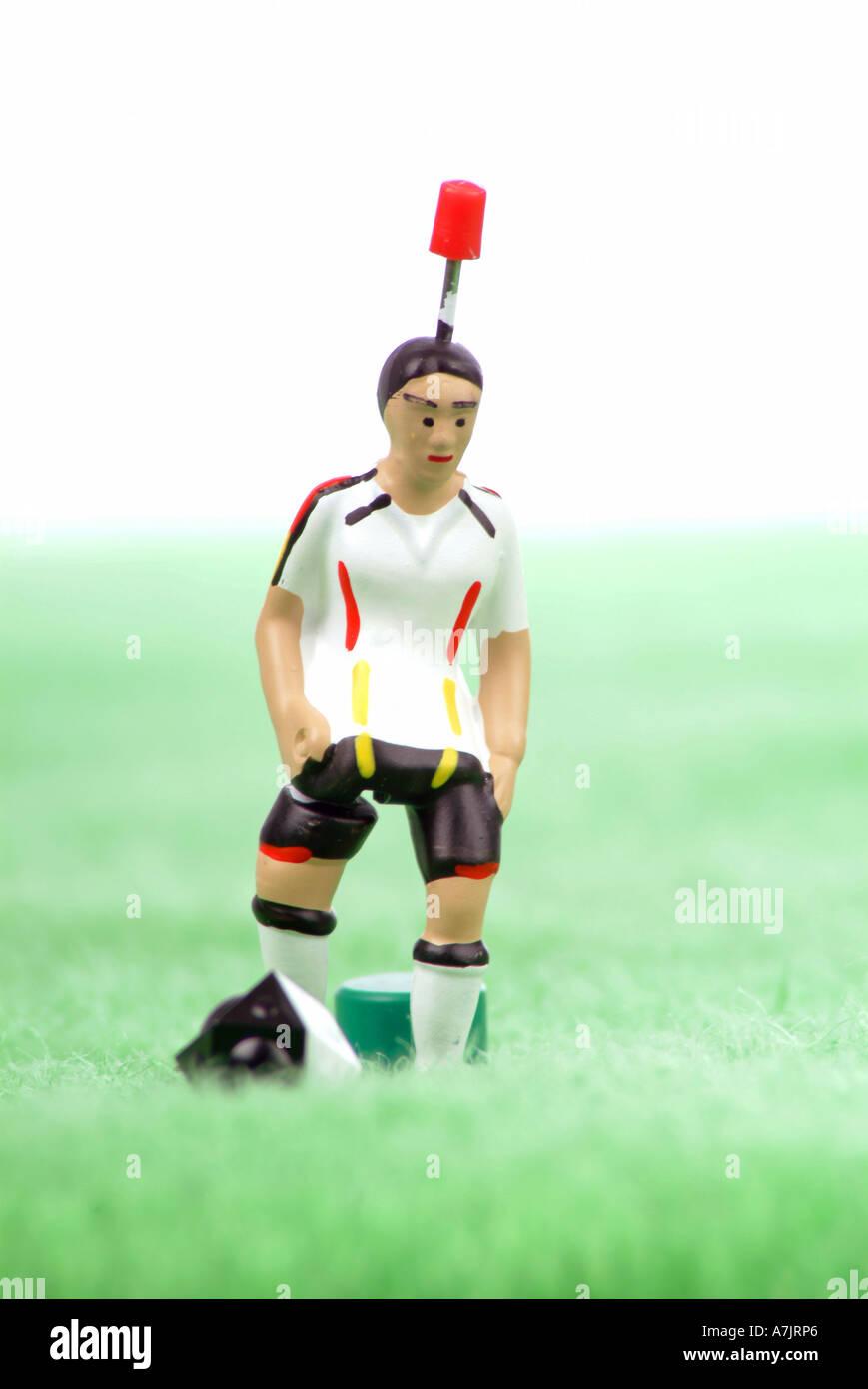 Fußballspiel Spieler soccer game player - Stock Image