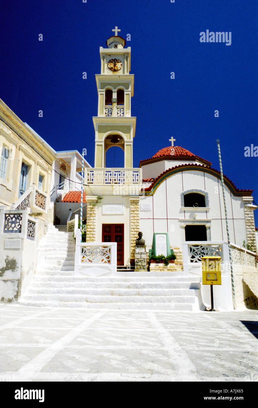 Olympos Olymbos Church Dodecnese Island Karpathos Greece Stock Photo