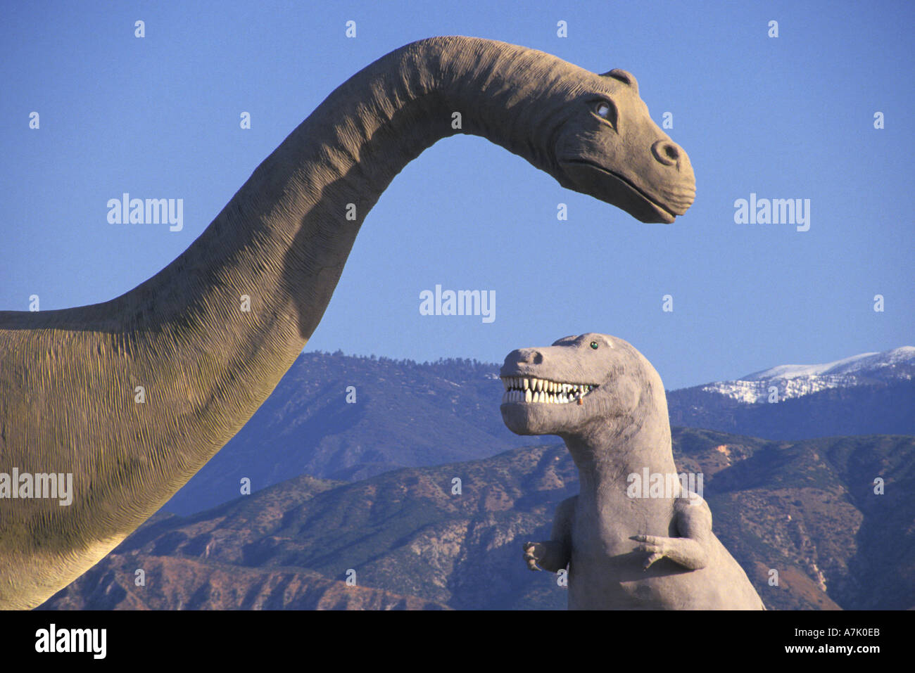 dinosaurs tourist attraction at Banning California - Stock Image