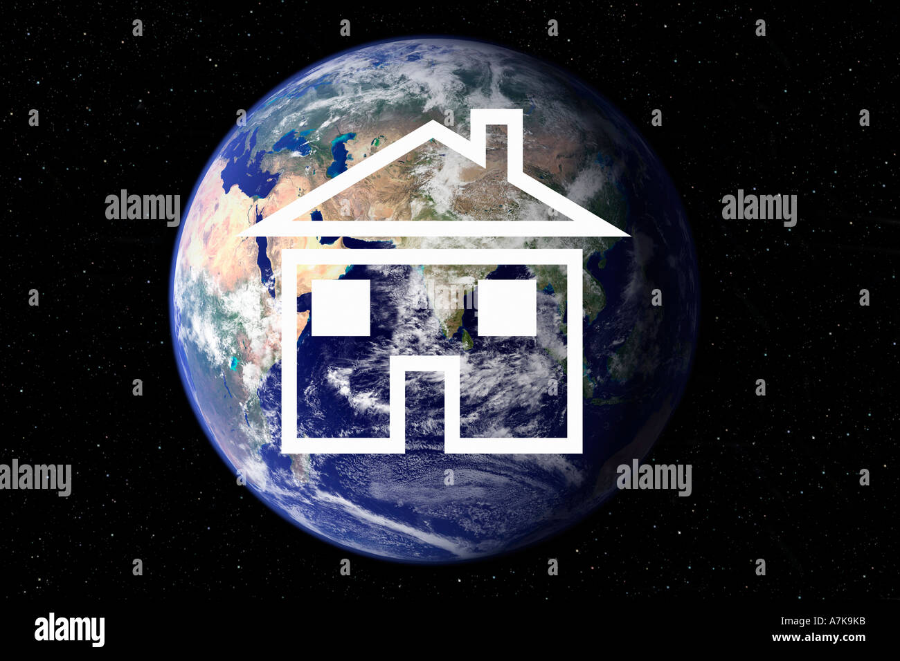 Concept image of the awareness of housing for poor people. - Stock Image