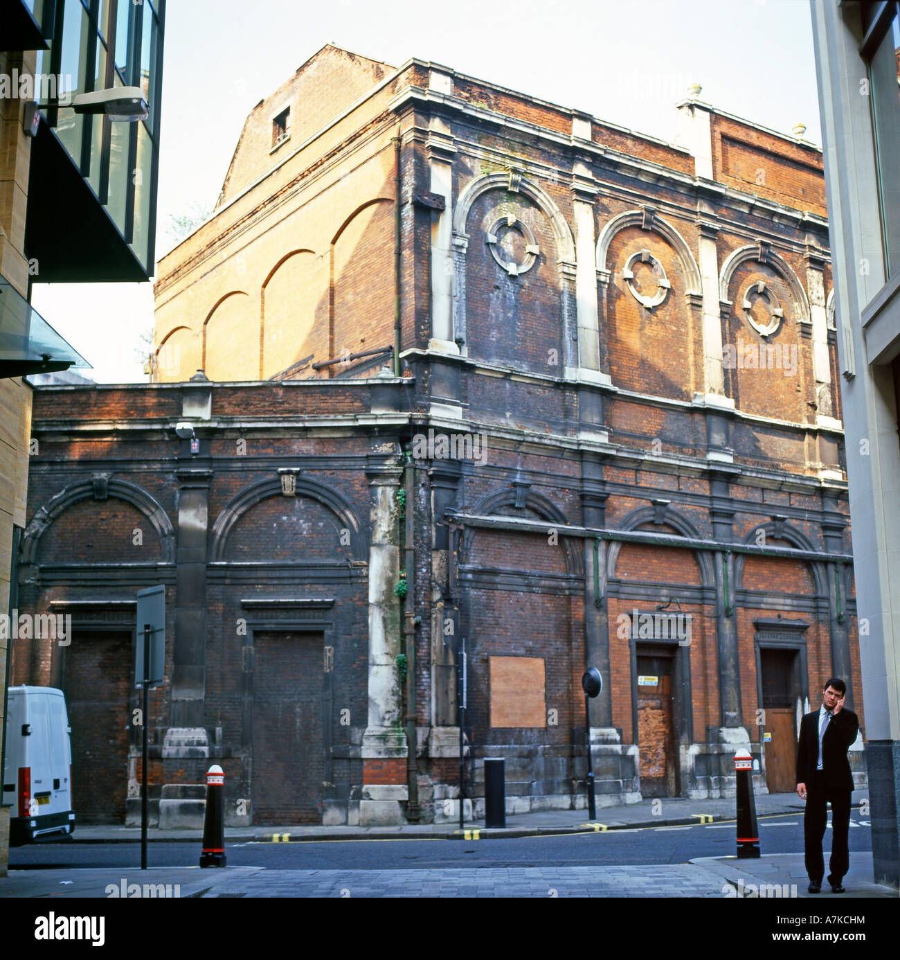 The derelict historic Red House Cold Storage building at Smithfield Meat Market London England UK KATHY DEWITT & The derelict historic Red House Cold Storage building at Smithfield ...