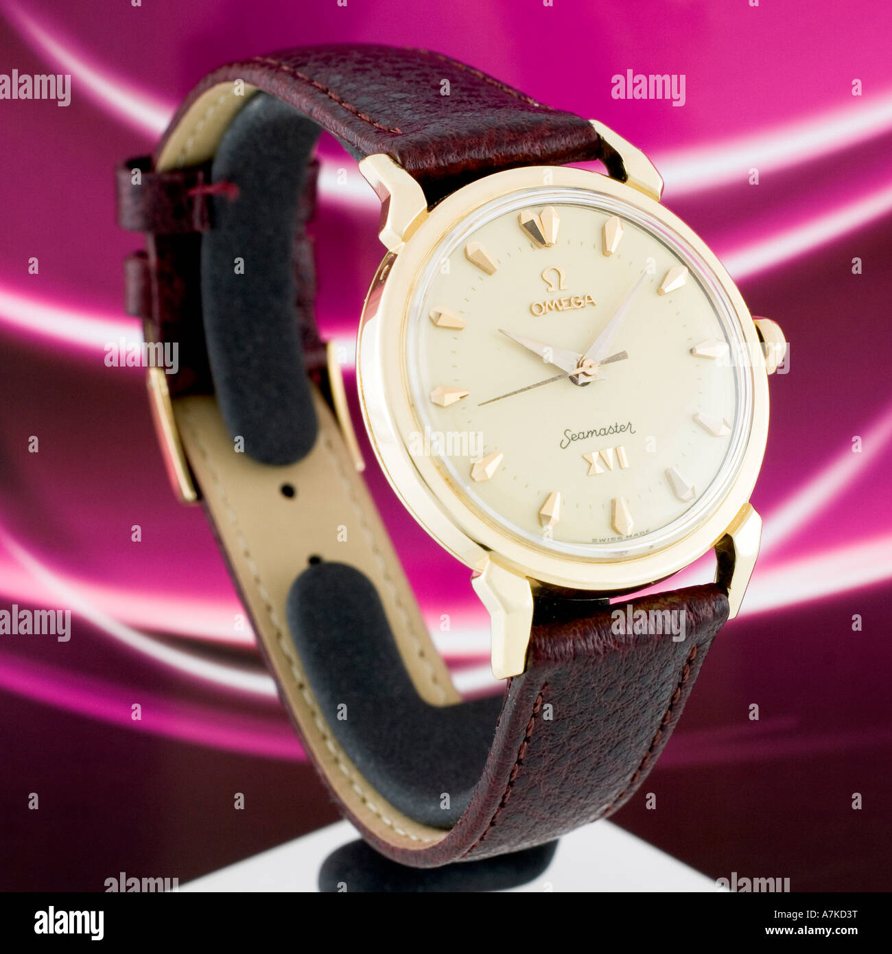 1956 Omega Seamster XVI Olympic Edition to commemorate Melbourne Australia Olympics. - Stock Image