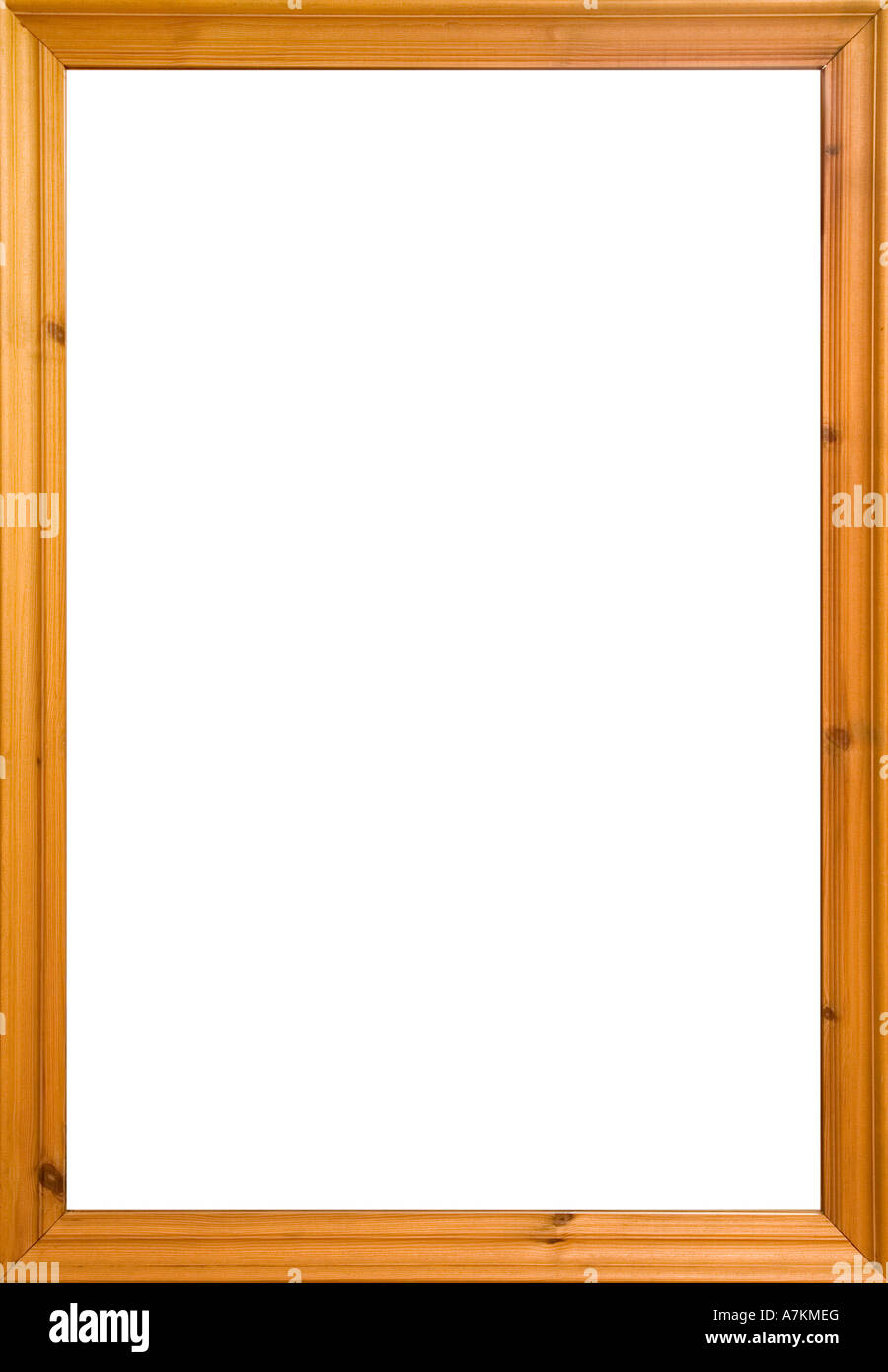 Wooden frame with white isolated area. Could also be used as a Stock ...