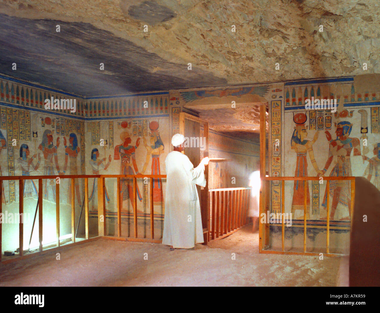 tomb of queen hatshepsut hathor egypt stock photo 3873624